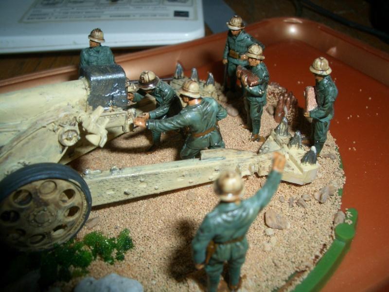 Italienische schwere Artillerie   149/40 Kanone   !:72 Cimg0216