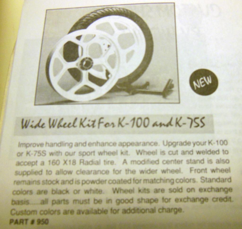 """K100 18"""" Y spoke rear wheel Dscn1410"""