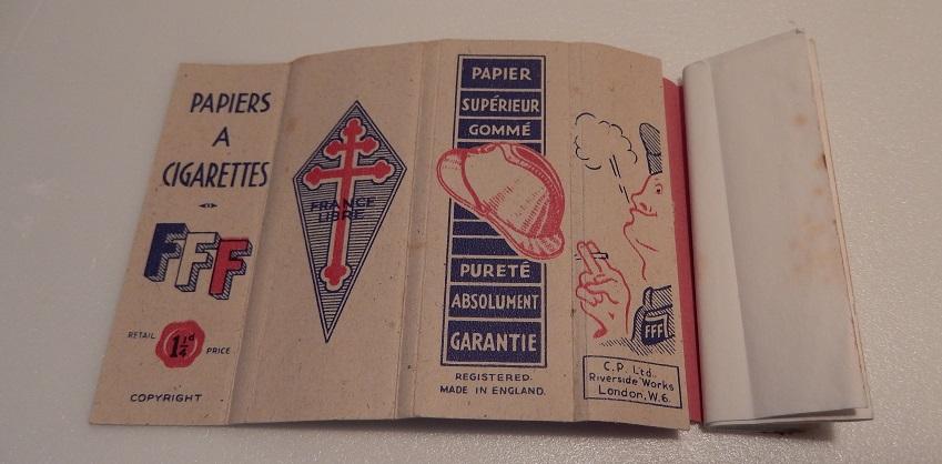 papier a cigarette Forces Francaise Libre WW2 Dscn0424