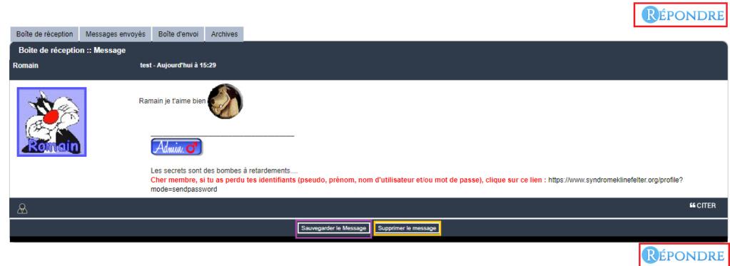 Fonctionnement de la messagerie privée (mp) Lectur10