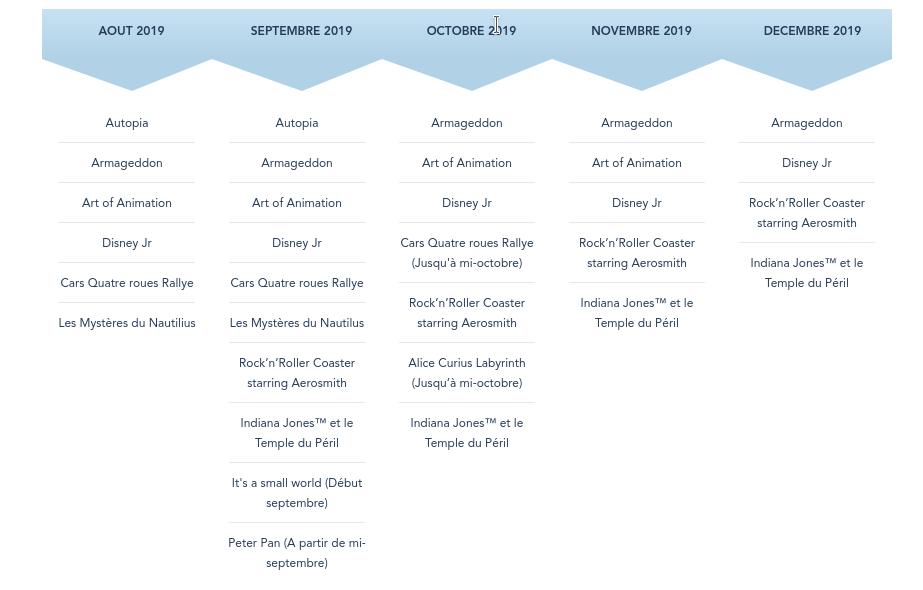 Calendrier des Saisons, Spectacles, Fermetures et Réhabilitations (voir page 1) Screen15