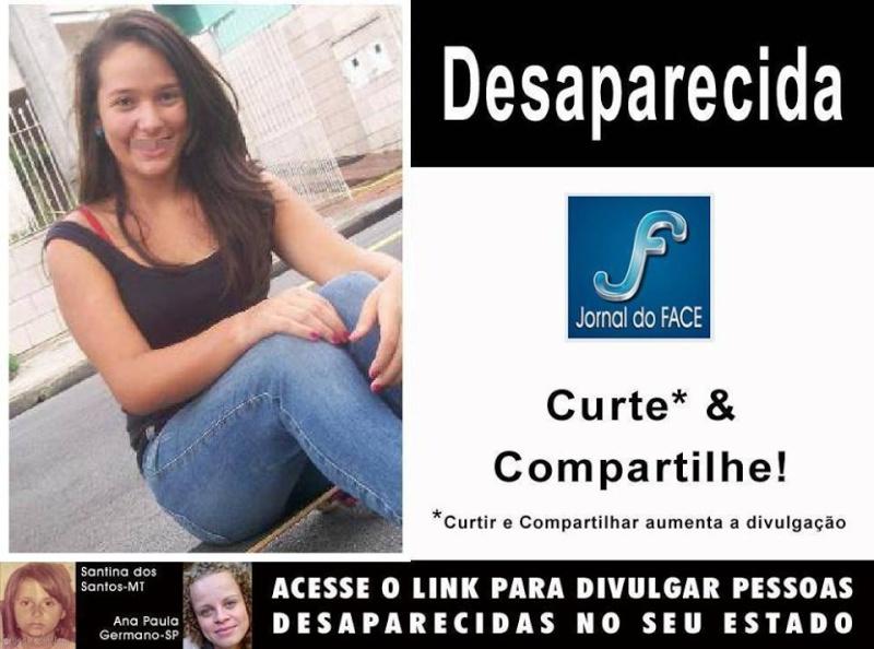 Curitiba - PR Amanda Luiza Chrispim 14 anos, está desaparecida desde 20.05.2013  Pessoa10