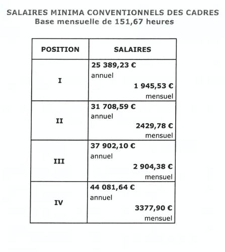 nouvelle grille de salaire minima applicable dés le 1er juillet 2013 210