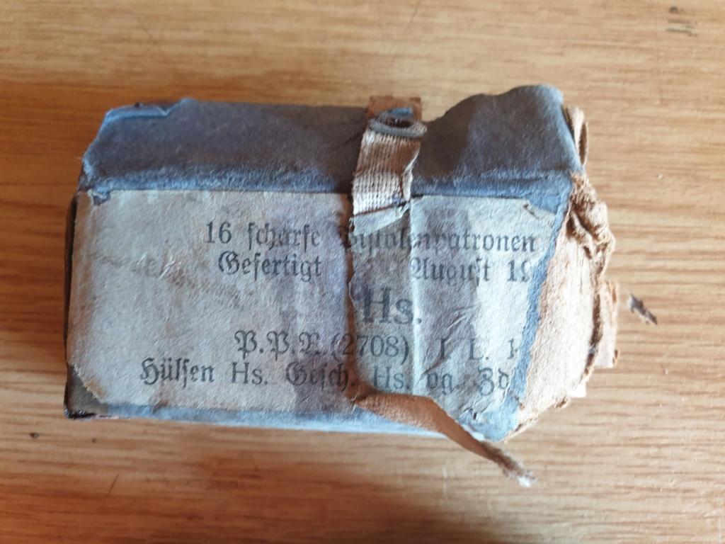 2 boîtes (abîmées) de cartouches pour P08 de 1917 20200828