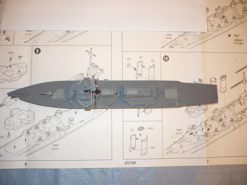 DDG-54 Curtis Wilbur REVELL 1/700 (montage) P1030511
