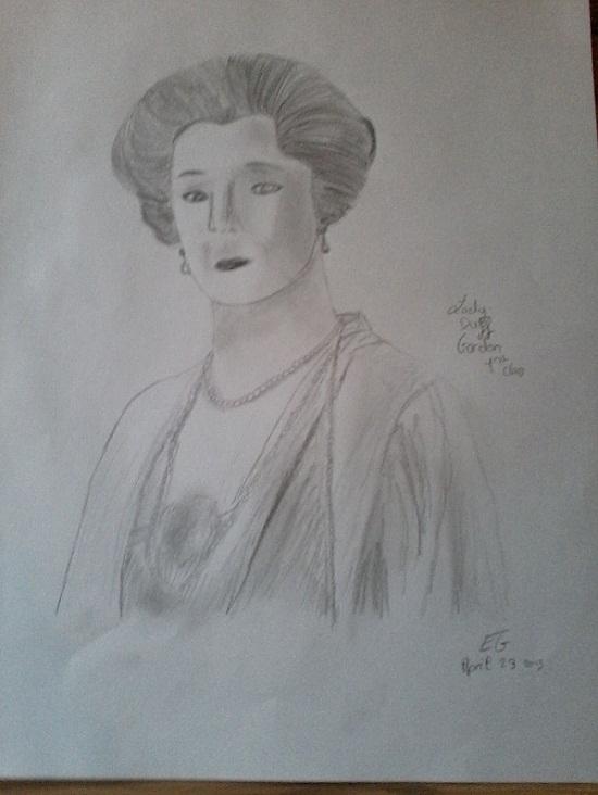 Mes dessins en rapport avec le Titanic. P23-0410