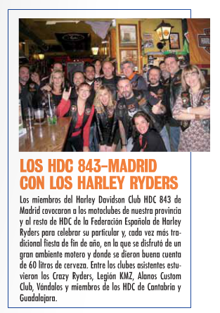 Mencion a Alanos en la revista En Moto (Fiesta HDC Madrid) Screen10