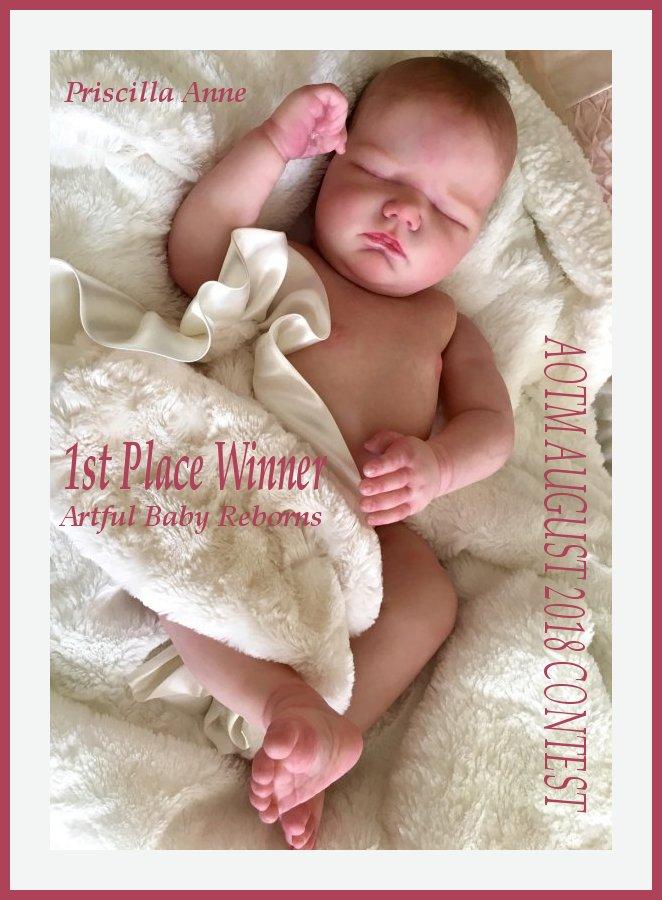 ~~~~~~ AOTM AUGUST 2018 WINNER - Priscilla Anne of Artful Baby Reborns!! ~~~~~~~ August11