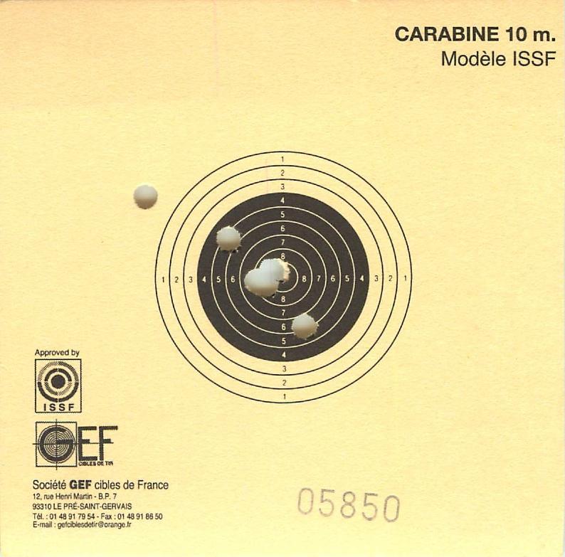 Premier carton carabine à 10m après 20 ans sans tirer... 2013_010