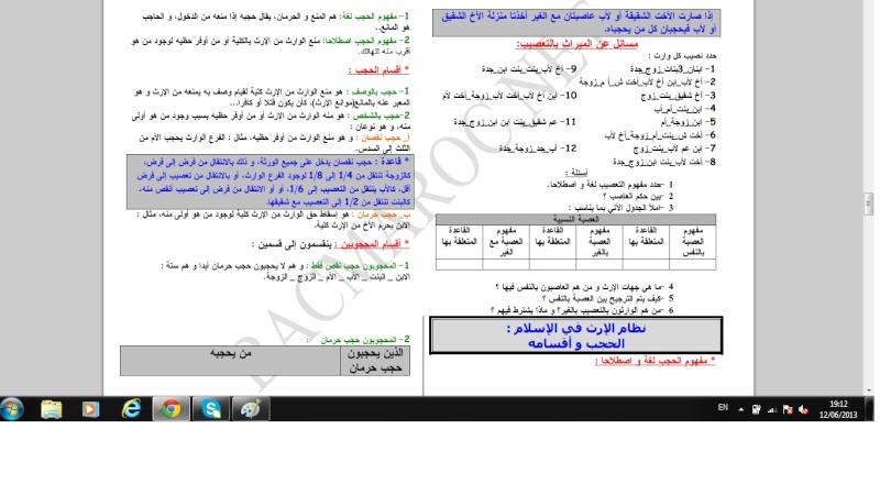 الاولى سلك بكالوريا علوم تجريبية التربية الإسلامية Islami16