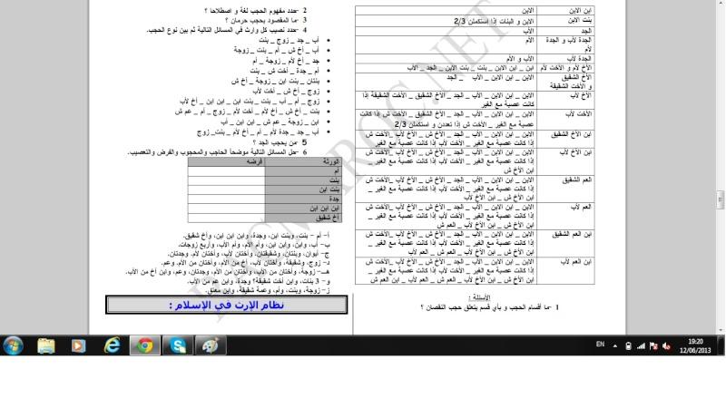 الاولى سلك بكالوريا علوم تجريبية التربية الإسلامية Islami17