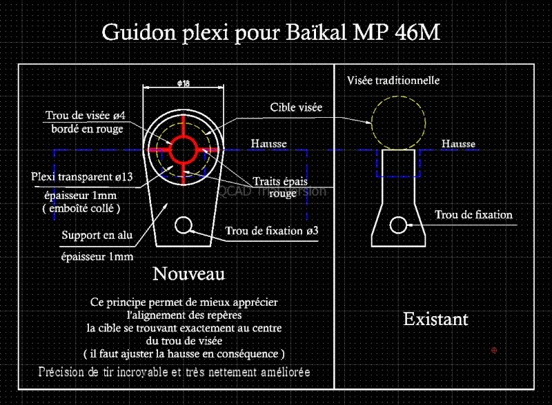 Guidon plexi pour Baïkal MP 46M Guidon10