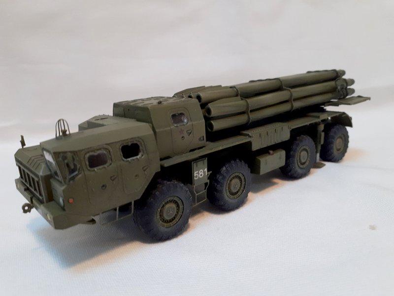 BM-30 Smerch Multiple Rocket Launcher - 1/72 - Modelcollect 20200513