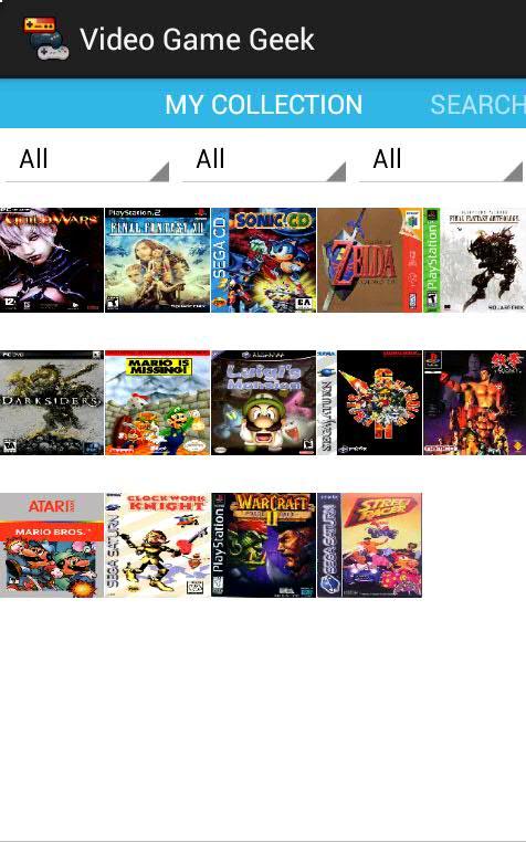 Projet VideoGameGeek Screen12