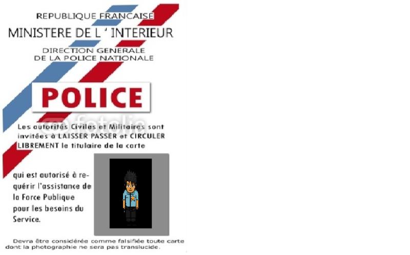 Carte de police . My_car10