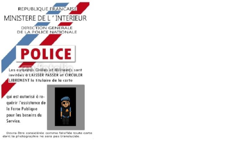 Carte de police . My_car11