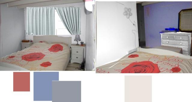 Pour confirmer choix des couleurs du couloir, prévision des couleurs de la chambre Ostrya11