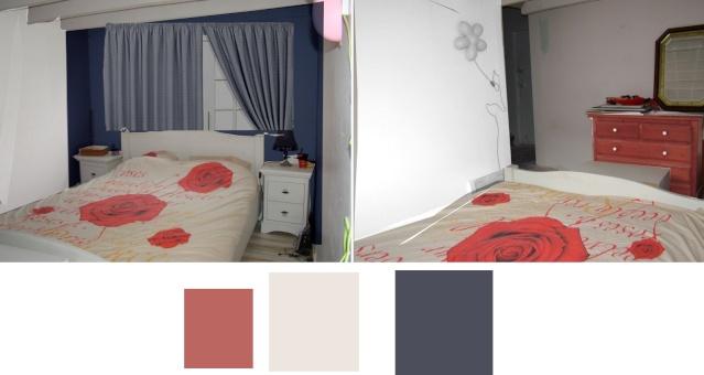 Pour confirmer choix des couleurs du couloir, prévision des couleurs de la chambre Renarb11