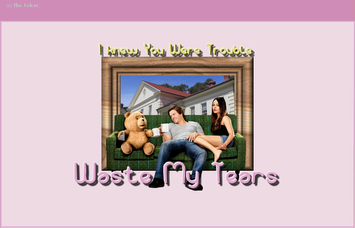 ∞ waste my tears
