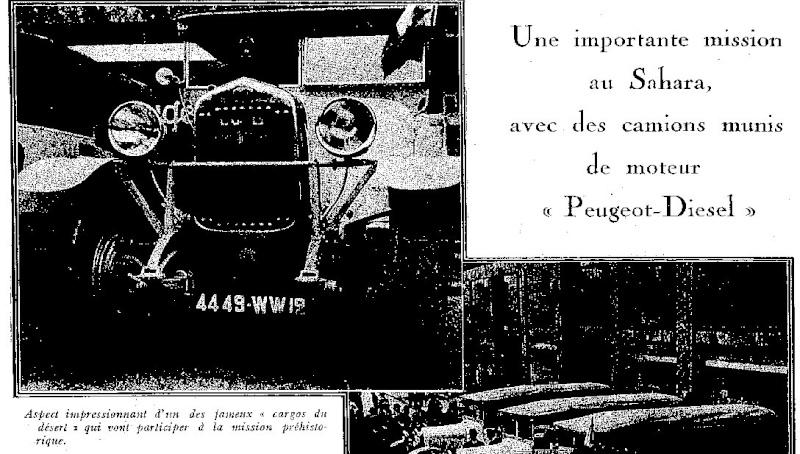 Peugeot et le camion diesel Expor139