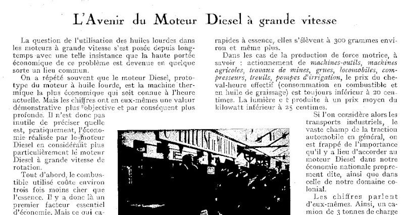 Le moteur diesel de Peugeot Junkers en 1930 Export53