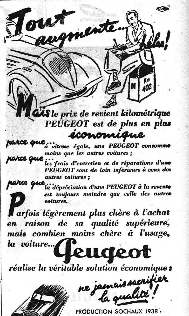 3 raisons d' acheter Peugeot   Publicité d'époque Export99
