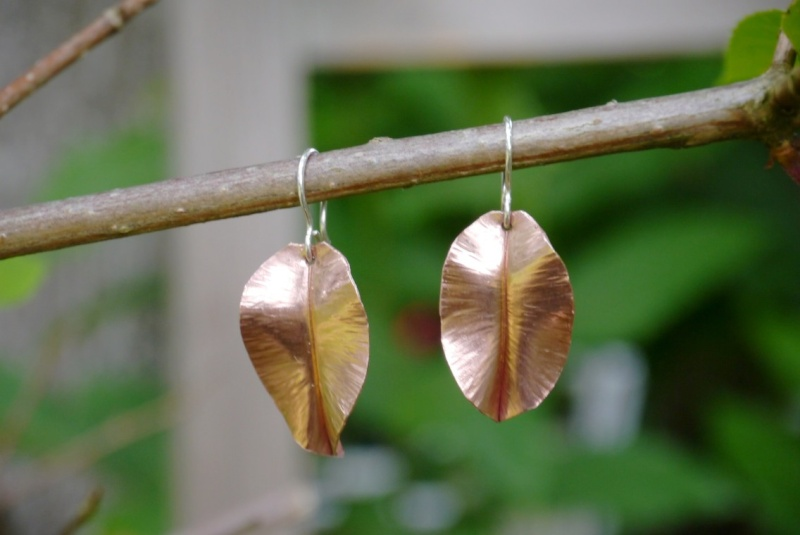 Boucles d'oreilles feuilles Bo_feu10
