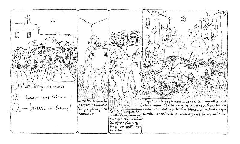 Prémices, naissance de la BD, époque de l'apparition des bulles ? (et interactions avec les estampes japonaises ?) Rodolp10