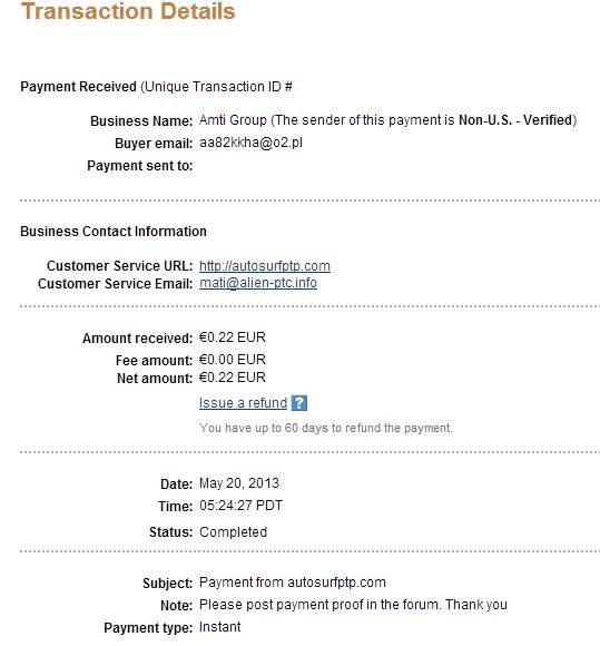 My payment-autosurfptp 110