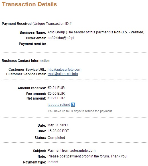 My payment-autosurfptp 113