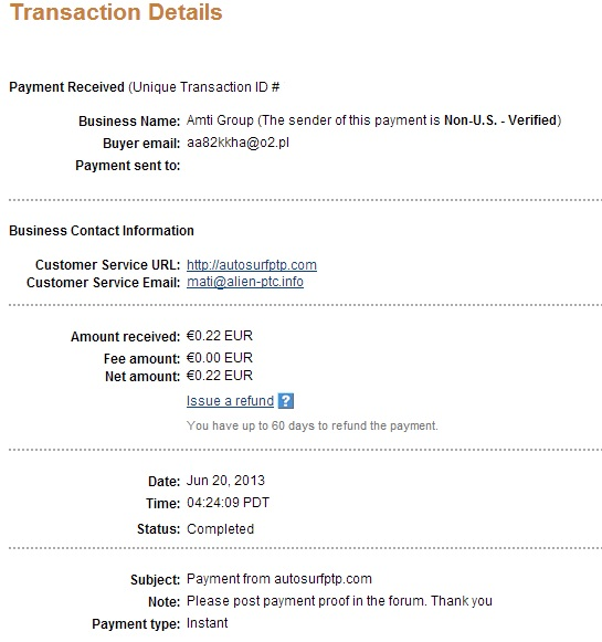My payment-autosurfptp 118