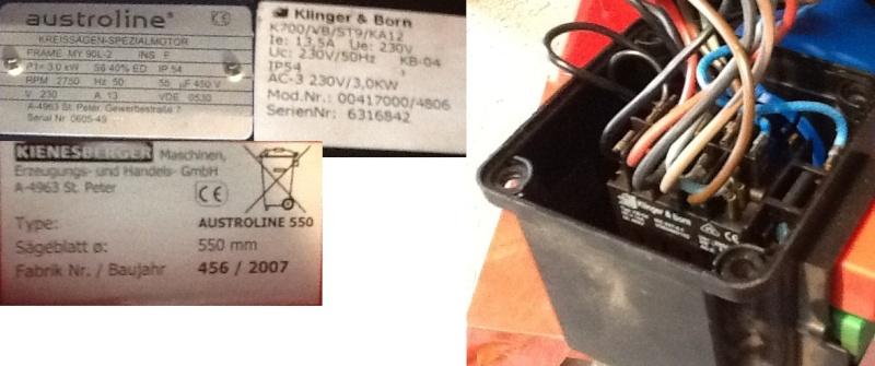 Depannage scie electrique 230v/400v? 550mm Mix11