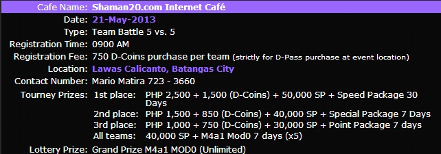 [May 21, 2013] Shaman20.com Internet Café Tanaua12