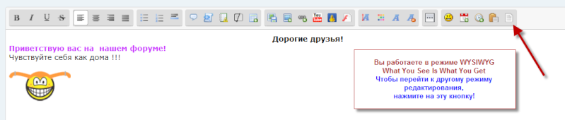 Форматирование вставляемого текста Wysiwy10