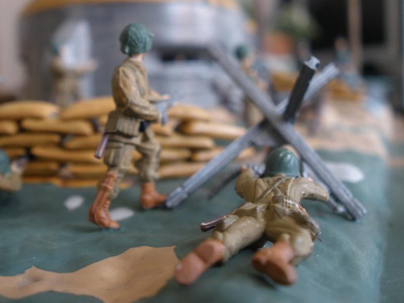 Diorama bunker allemand attaqué par des paras' américains P6140210