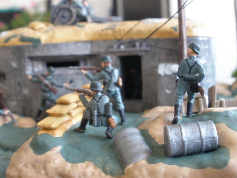 Diorama bunker allemand attaqué par des paras' américains P6140214