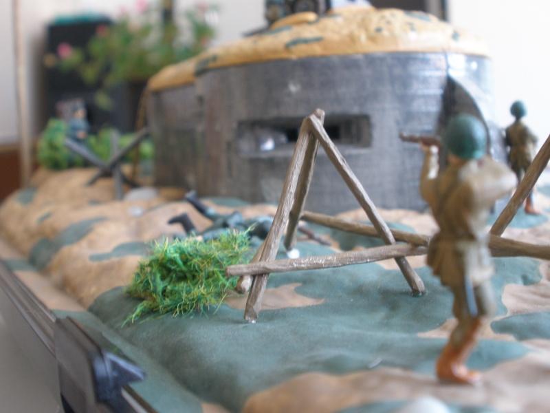 Diorama bunker allemand attaqué par des paras' américains P6140215