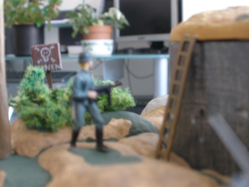 Diorama bunker allemand attaqué par des paras' américains P6140217
