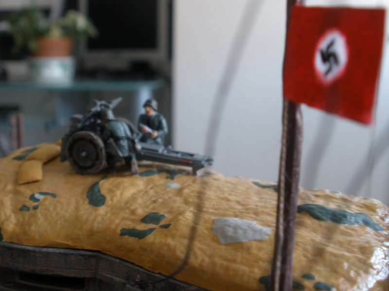 Diorama bunker allemand attaqué par des paras' américains P6140219