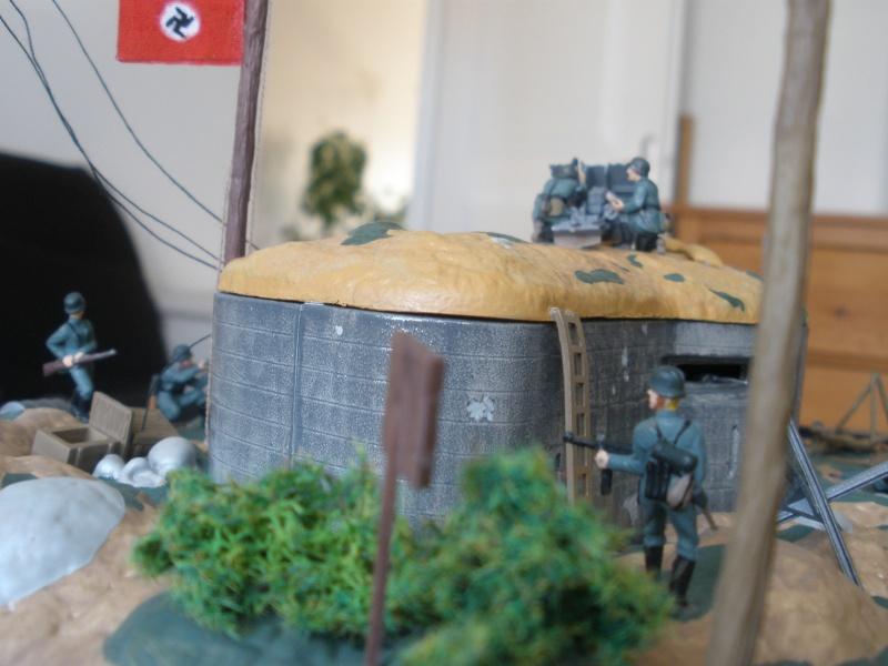 Diorama bunker allemand attaqué par des paras' américains P6140225