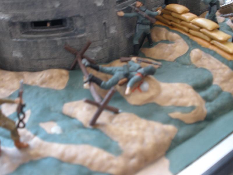 Diorama bunker allemand attaqué par des paras' américains P6140226