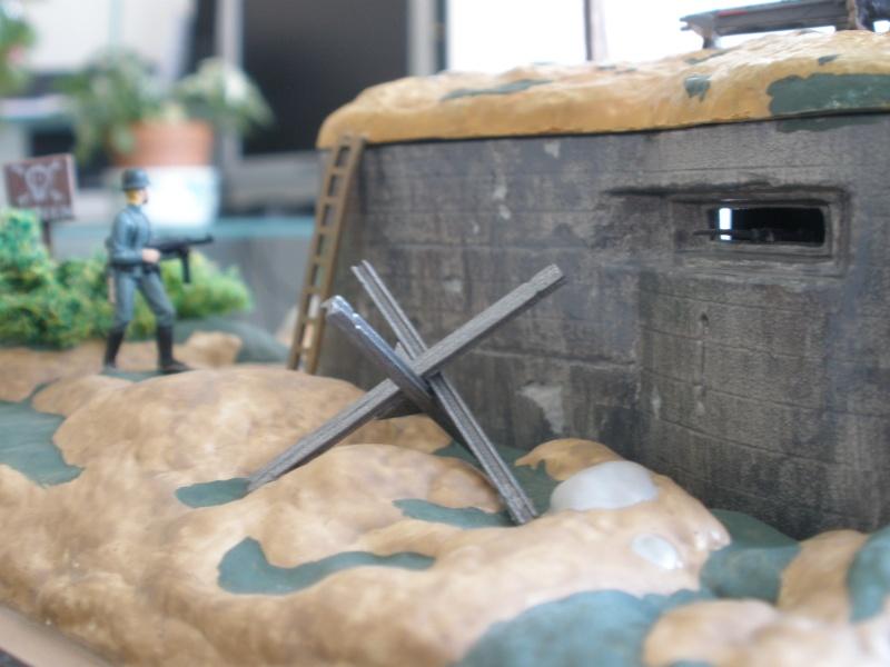 Diorama bunker allemand attaqué par des paras' américains P6140229