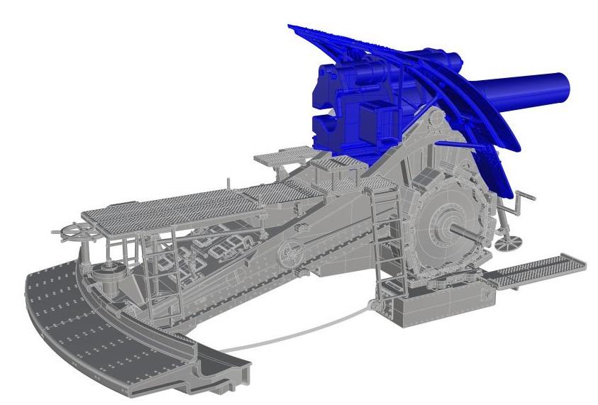 Dicke Bertha au 1/32 résine 42cm_d15