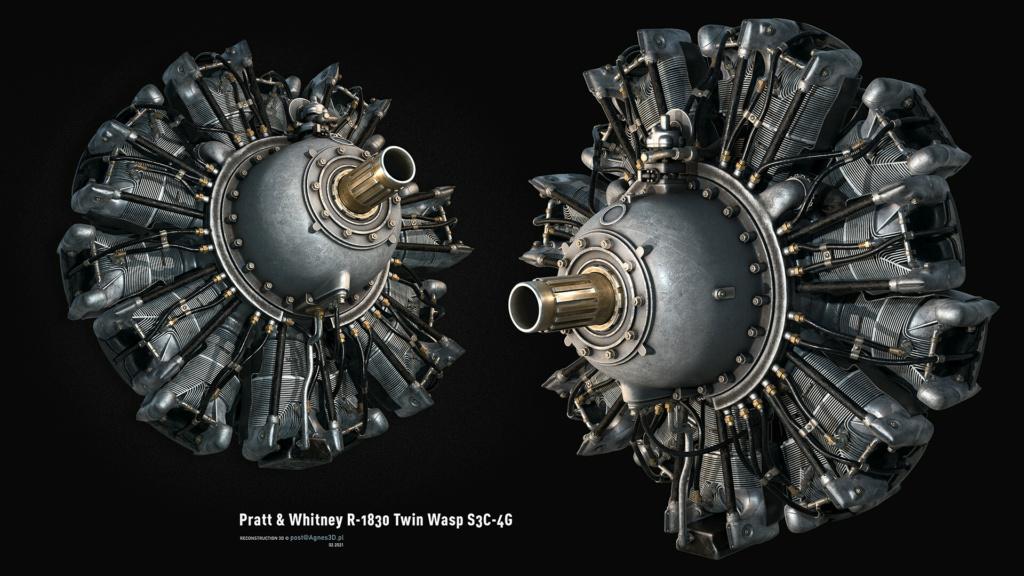Pratt and Whitney R1830  Lockheed Hudson  1/18 1/35  1/48 51056310