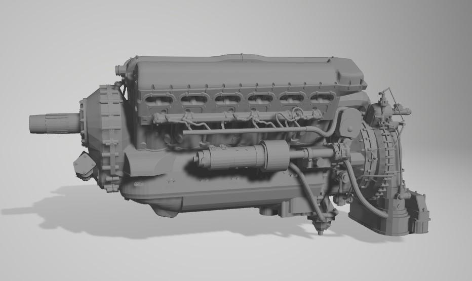 Rolls-Royce Merlin engine résine 1/24 Captu137