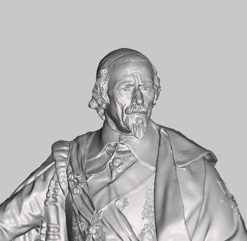 Armand Jean du Plessis Duc de Richelieu Résine 3D ( 12cm ) Terminé Captu142