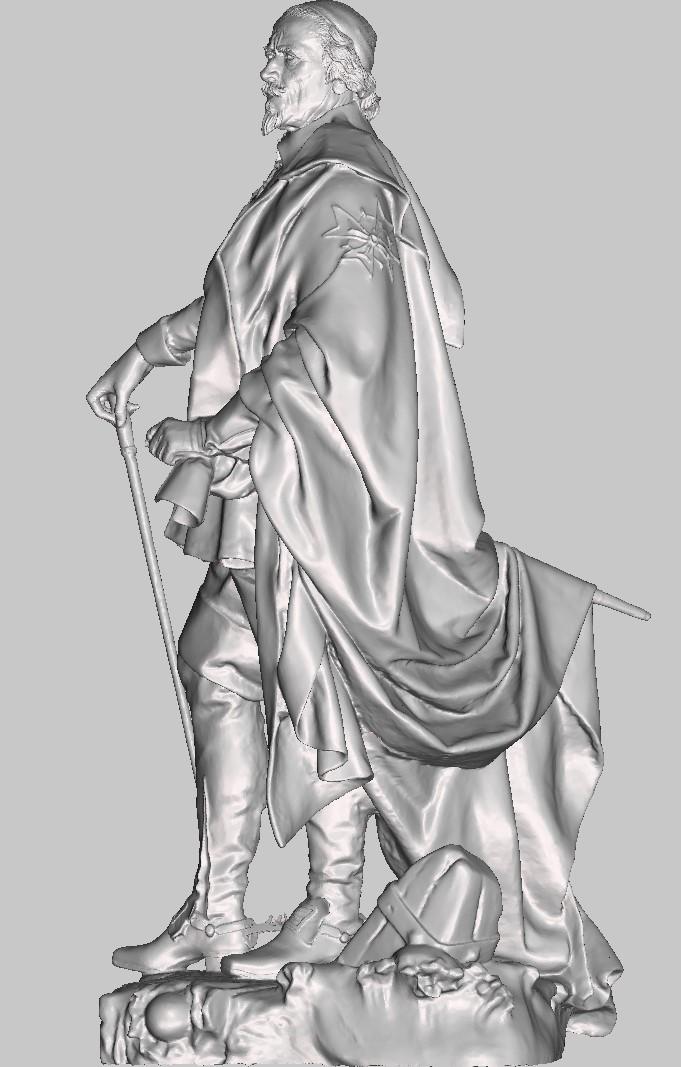 Armand Jean du Plessis Duc de Richelieu Résine 3D ( 12cm ) Terminé Captu143