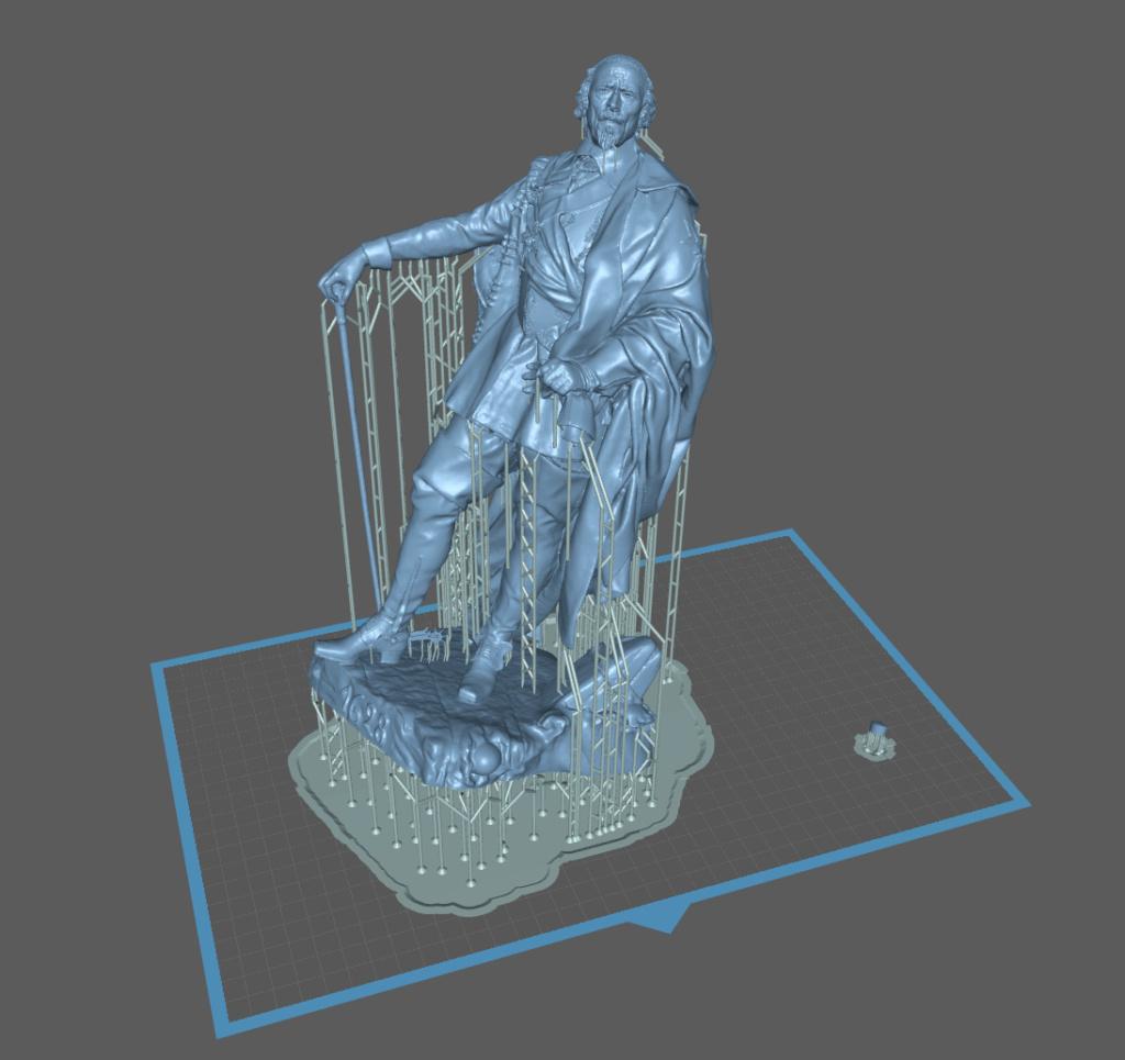 Armand Jean du Plessis Duc de Richelieu Résine 3D ( 12cm ) Terminé Captu144