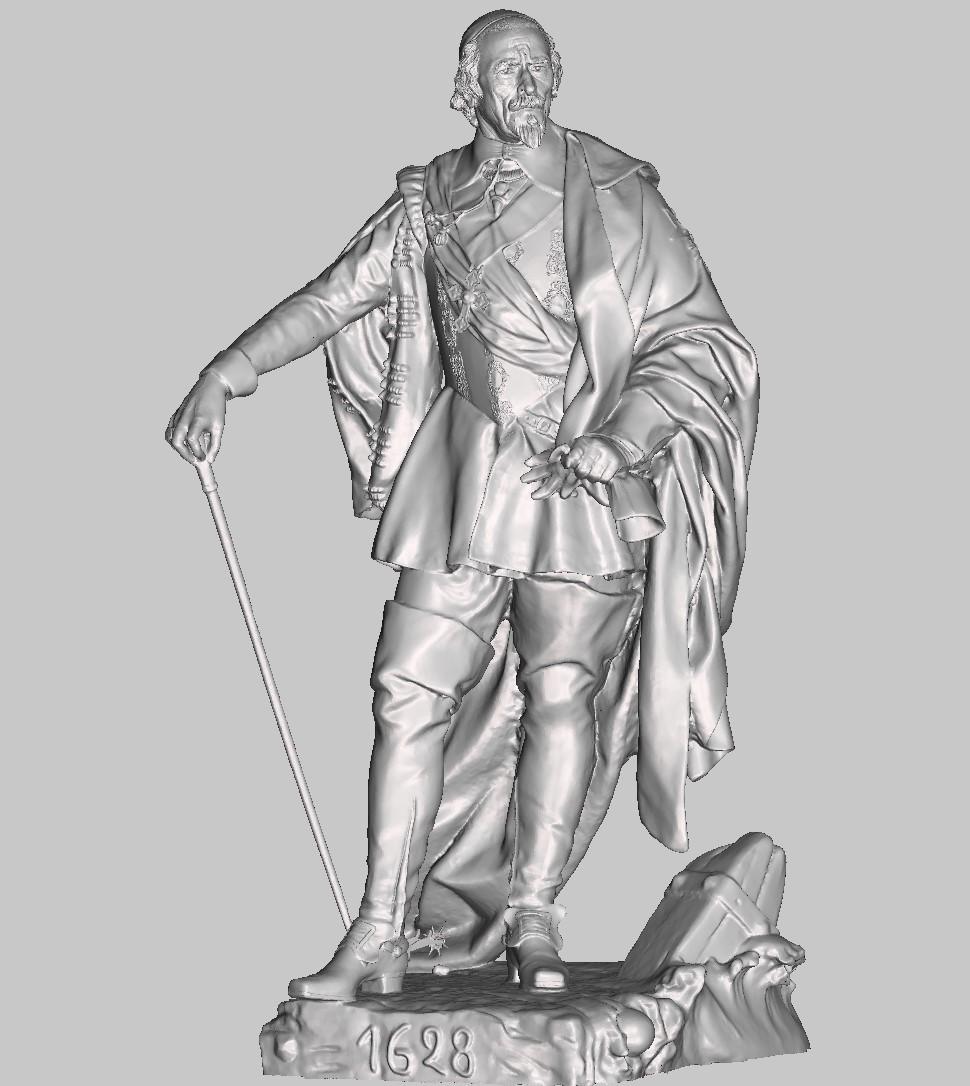 Armand Jean du Plessis Duc de Richelieu Résine 3D ( 12cm ) Terminé Captu145