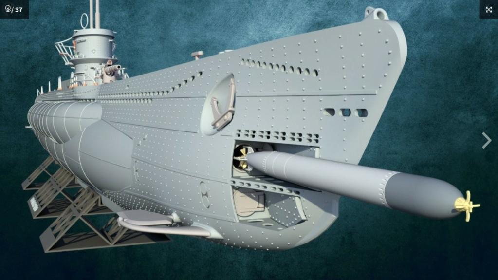 Sous-marin U-Boat VIID résine 3D au 1/100 Captur10